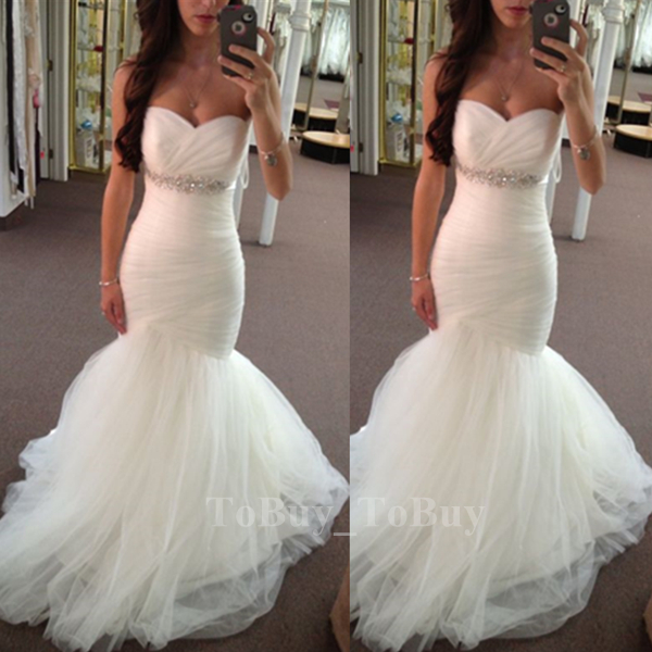 Fascinating Mermaid/Trumpet Sweetheart Neckline Empire Waist Tulle ...